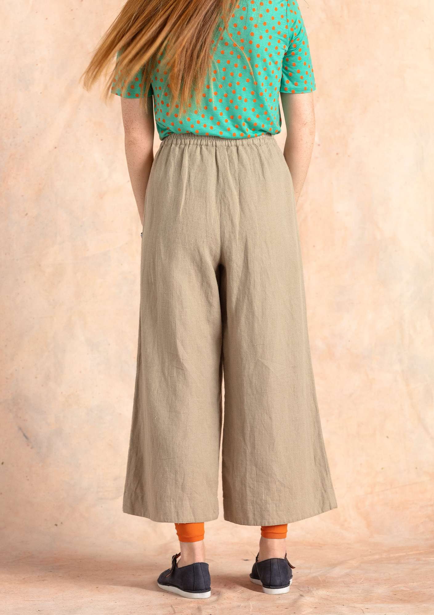 Linen/cotton trousers dark natural