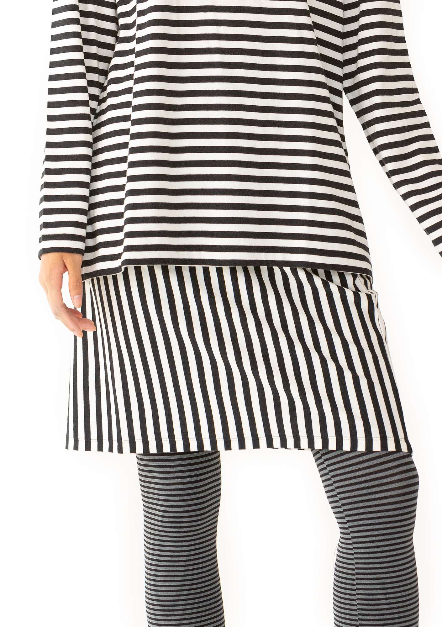 Striped skirt black/ecru