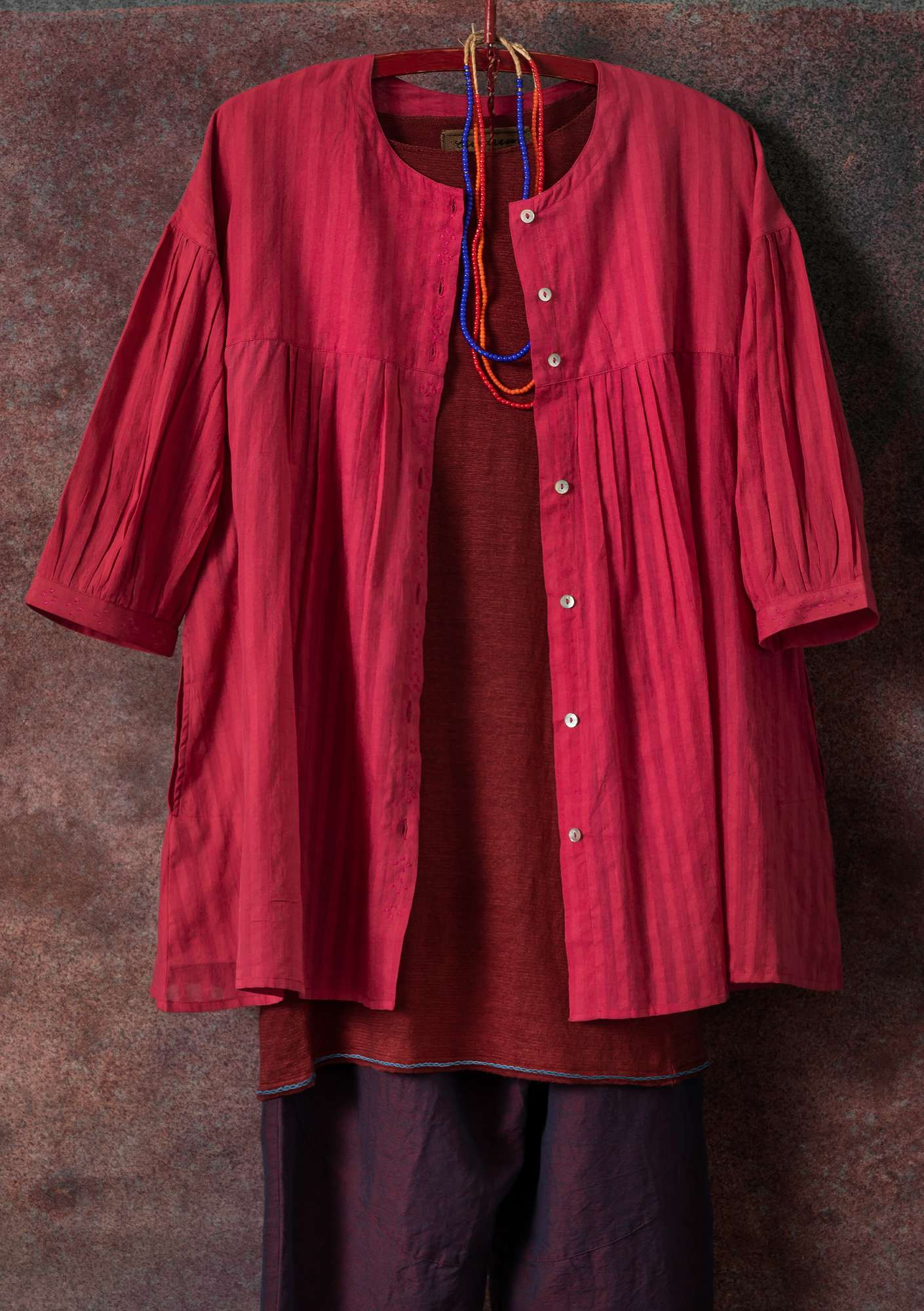 Bluse aus Baumwolle rosewood