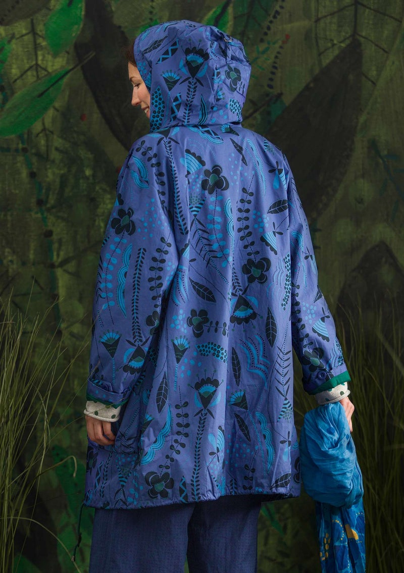"""Petronella"" parka in recycled/organic cotton lupine/patterned"