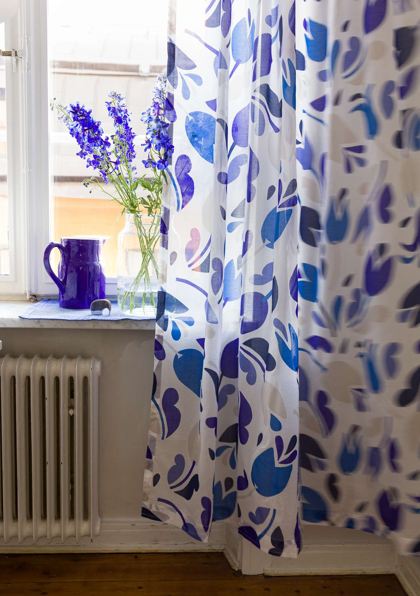 Botanica curtain cornflower blue