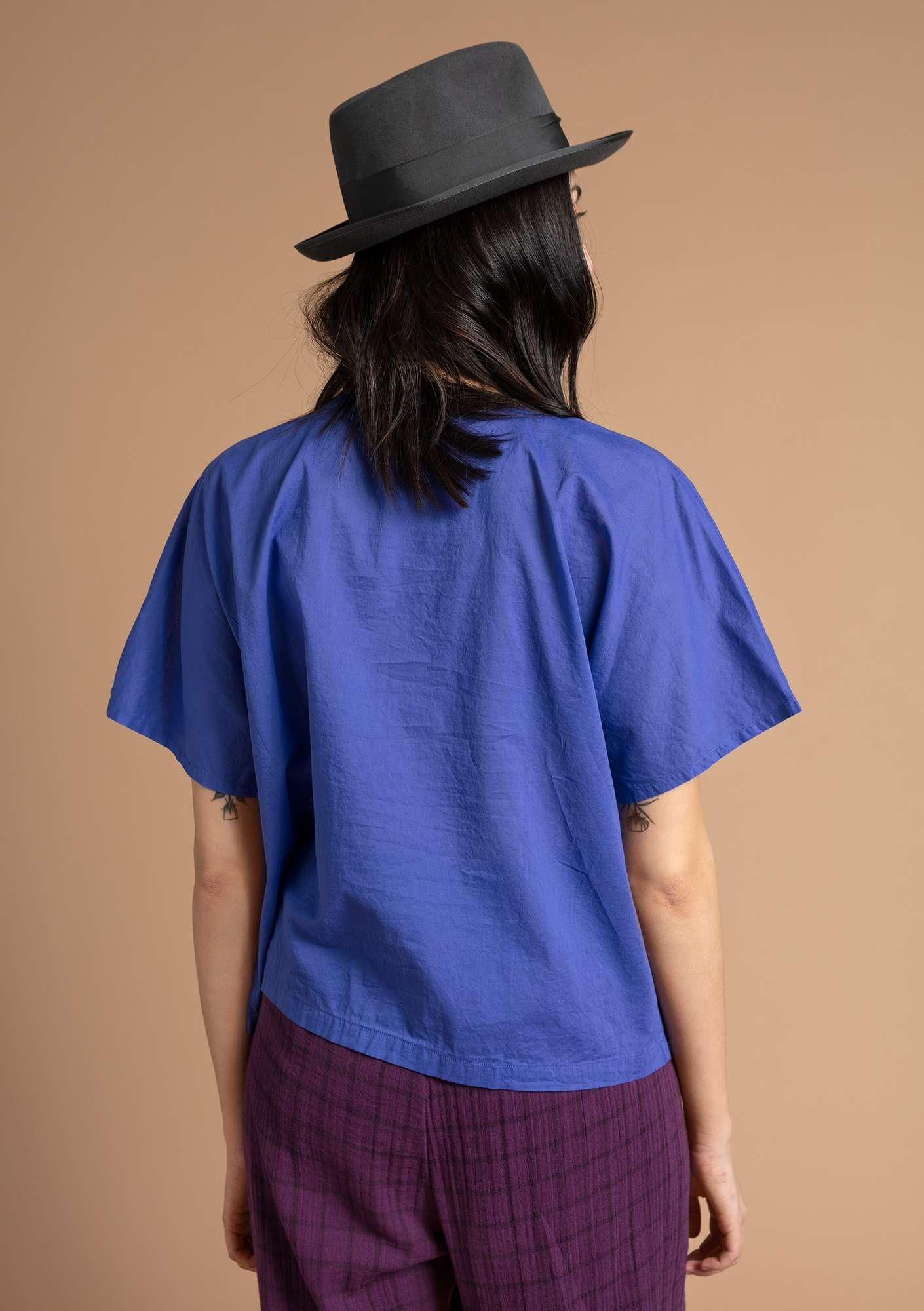 """Rigmor"" blouse in eco-cotton lupine"