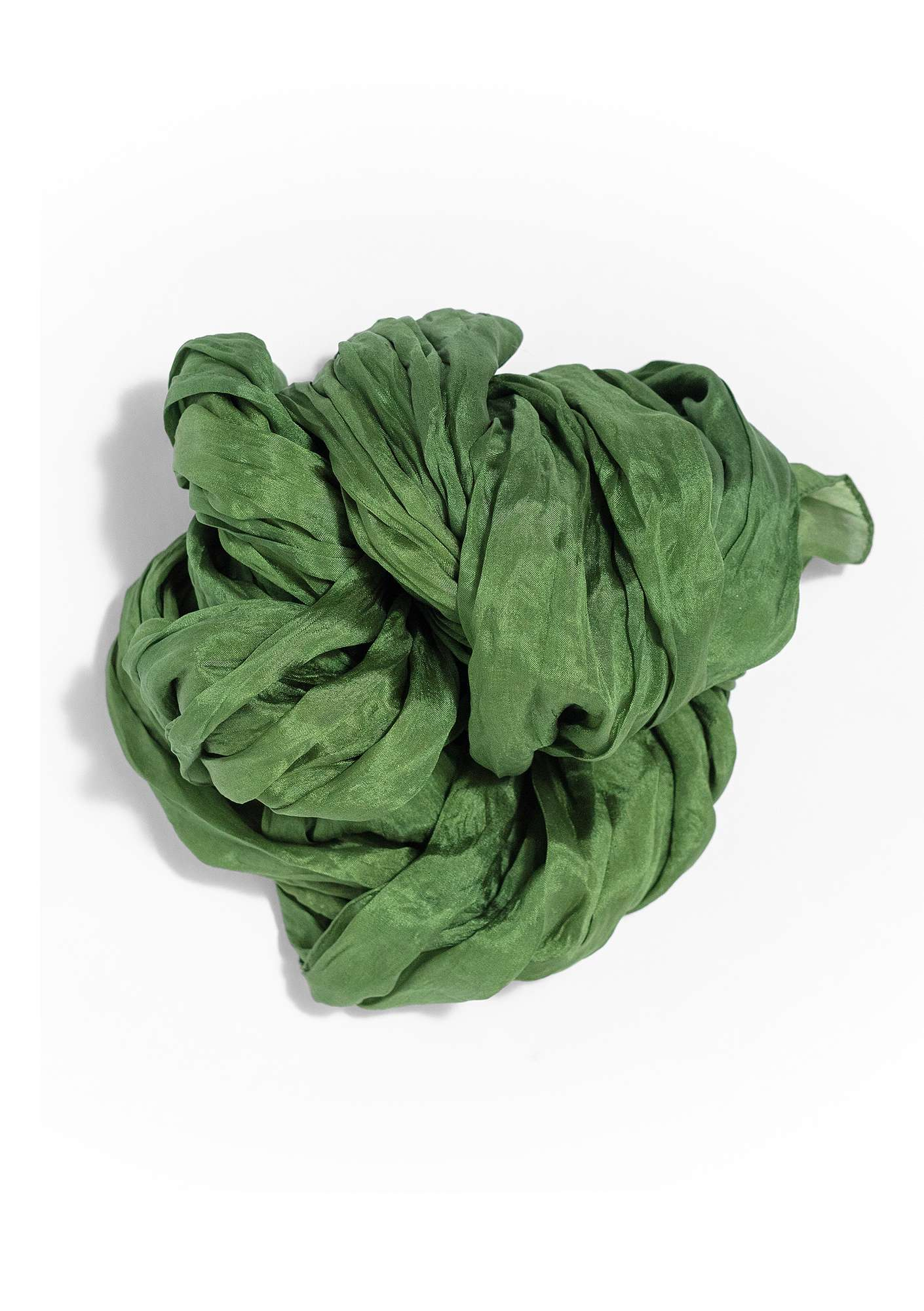 Silk shawl grass green