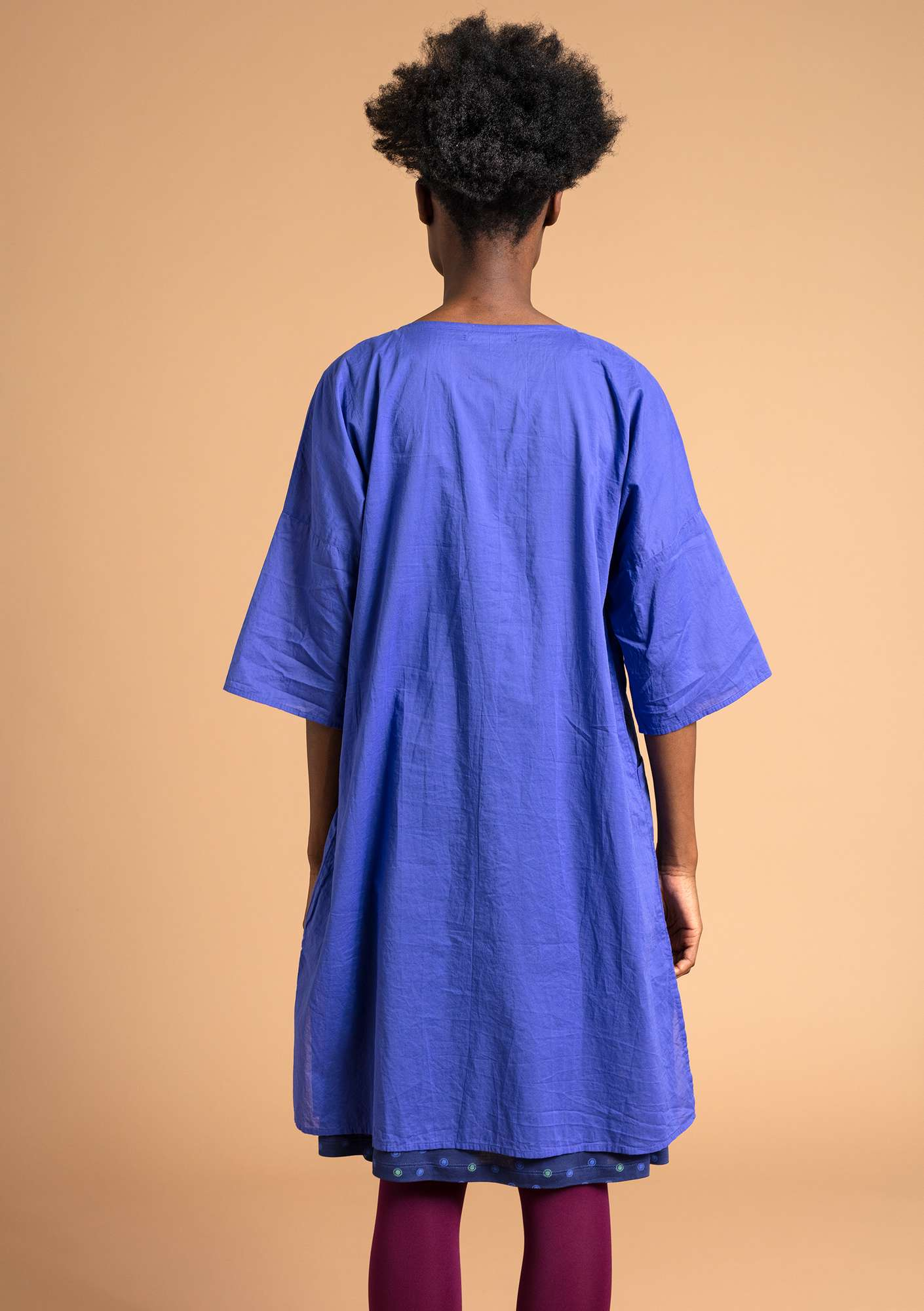 """Rigmor"" dress in eco-cotton lupine"