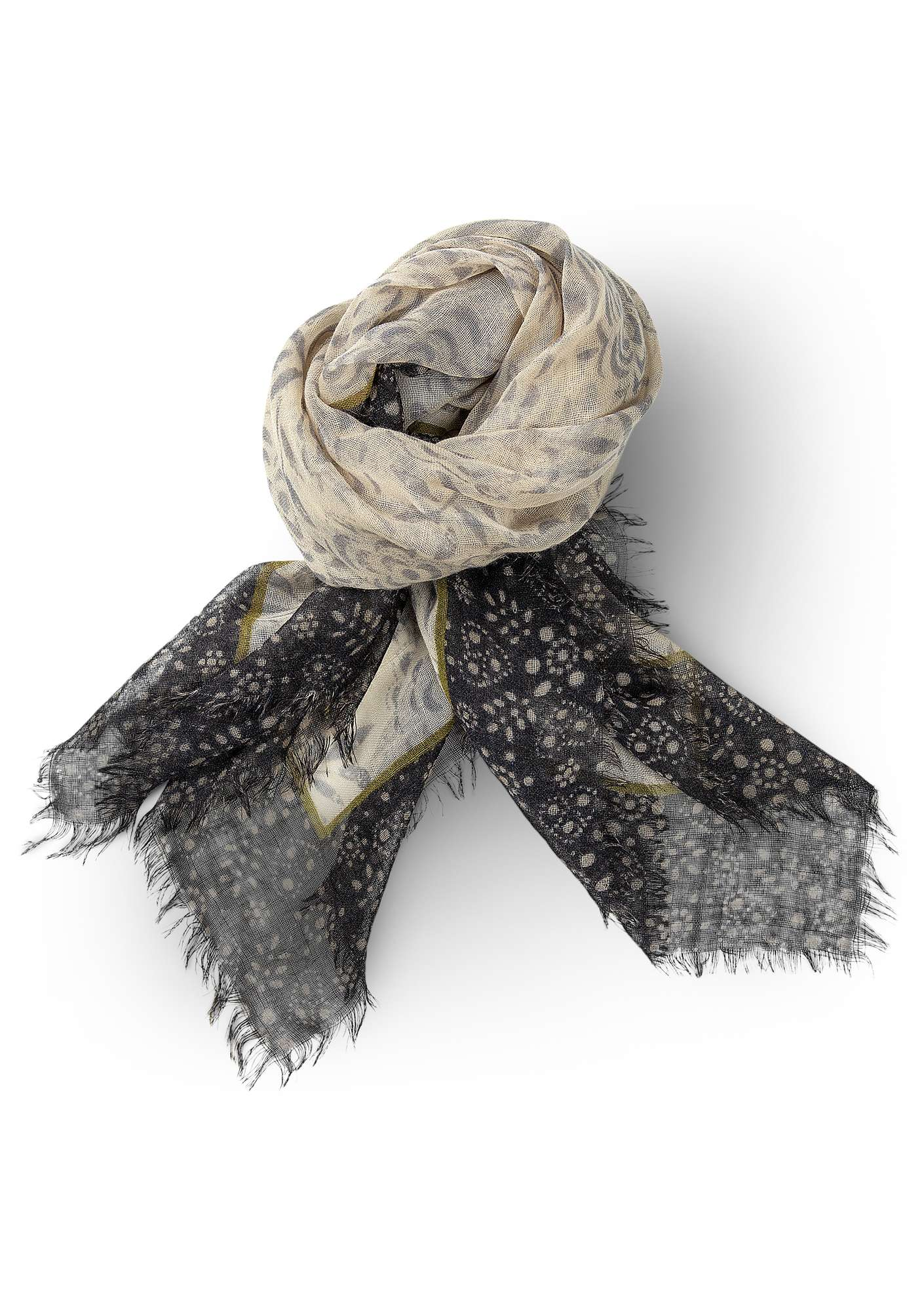 """Ulrika"" wool shawl putty"
