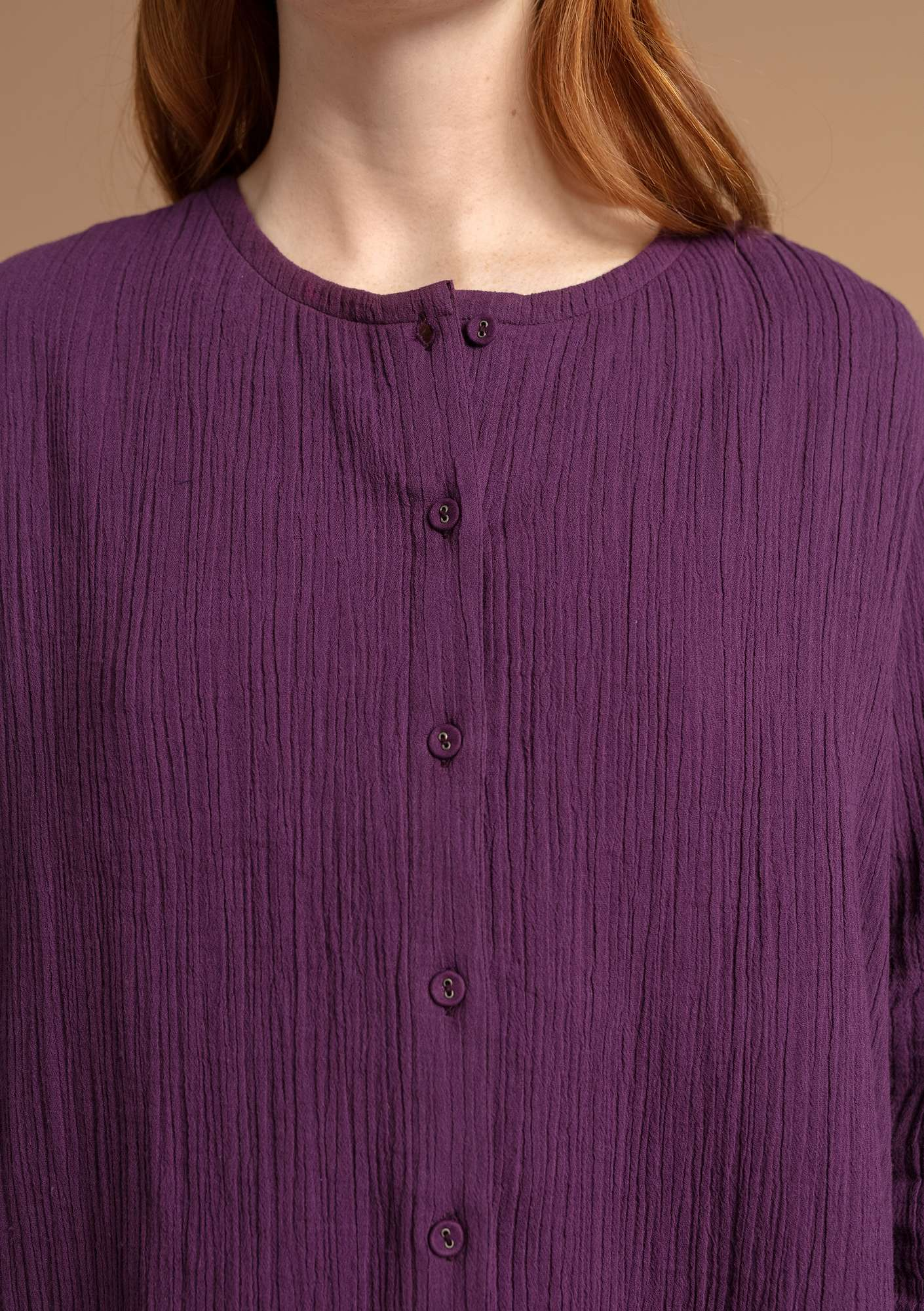 Blouse in organic cotton allium