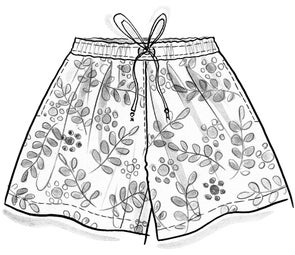 """Waterlily"" organic cotton shorts"