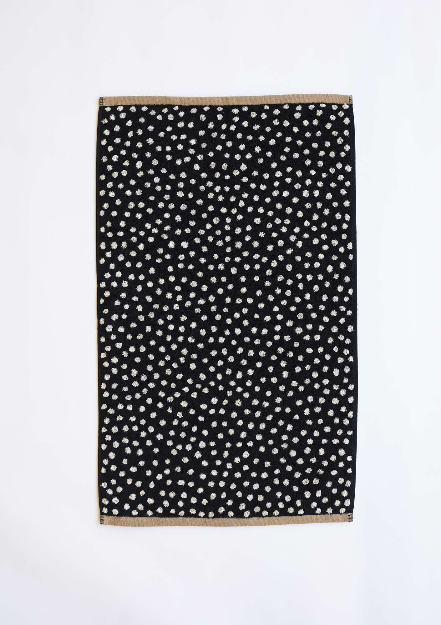 """Dots"" organic cotton hand towel black"