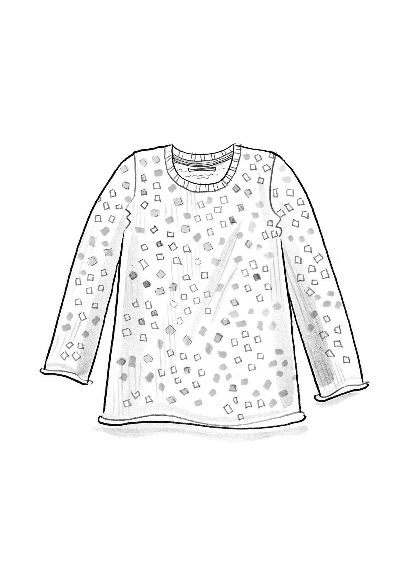"FAVOURITE sweater ""Confetti"" made of recycled cotton medium blue"
