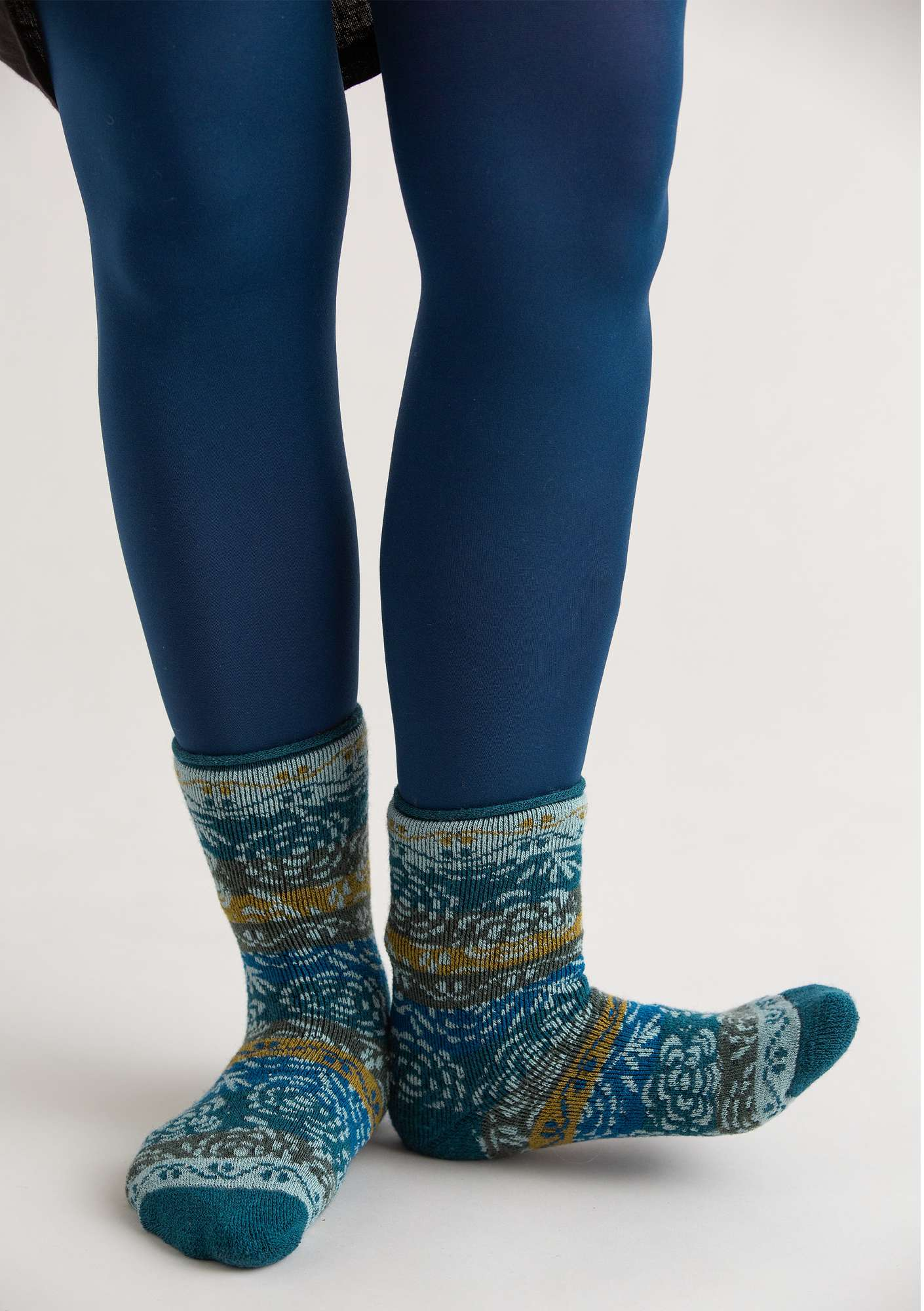 Leggings in recycled polyamide midnight blue