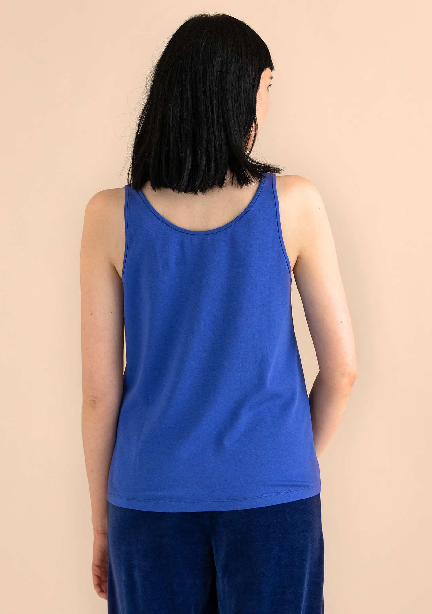 VIGG tank top in modal/eco-cotton/spandex lupine