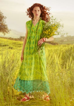 Maj dress tropical green