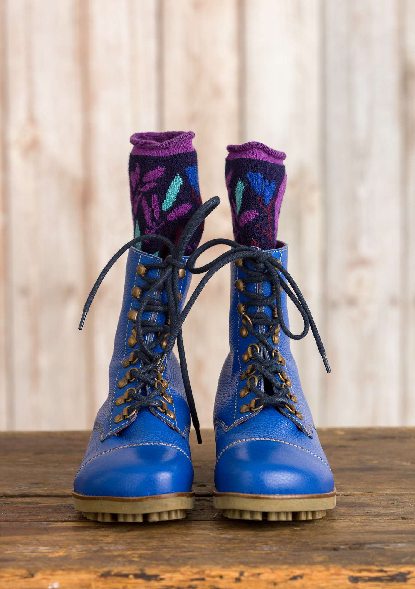 Bottines porcelain blue