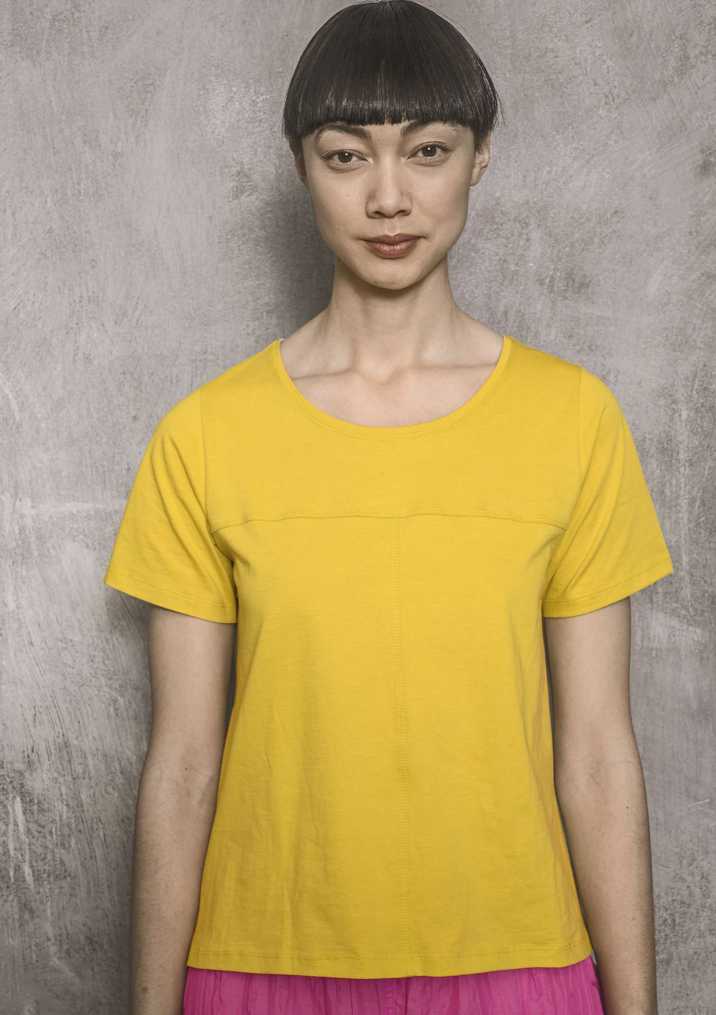 Organic cotton top dijon