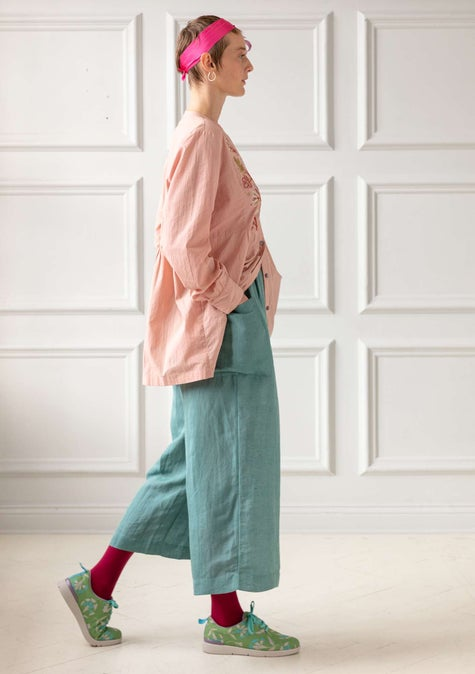 Solid-colour trousers artemisia