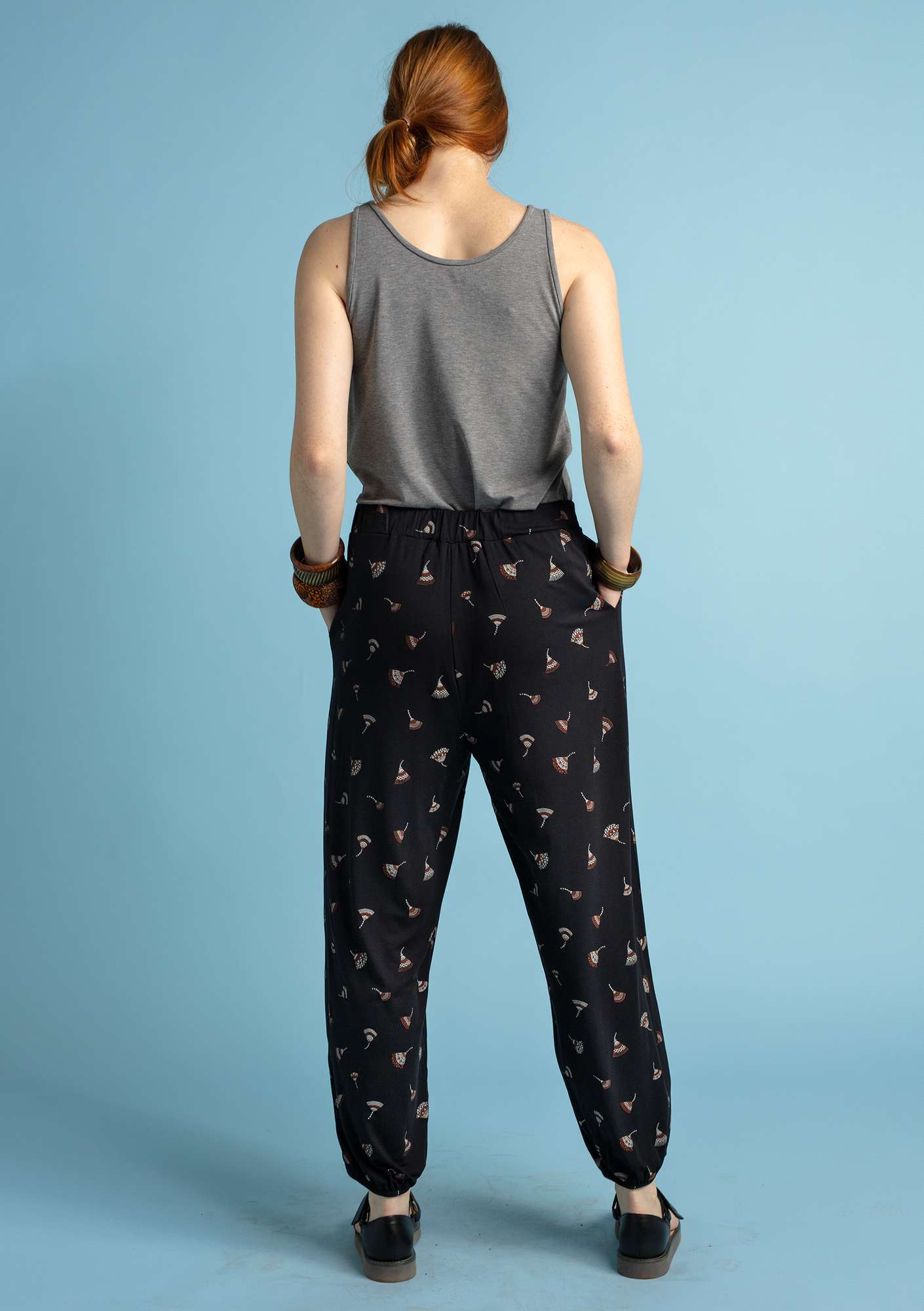 """Luisa"" trousers in micromodal/elastane black"