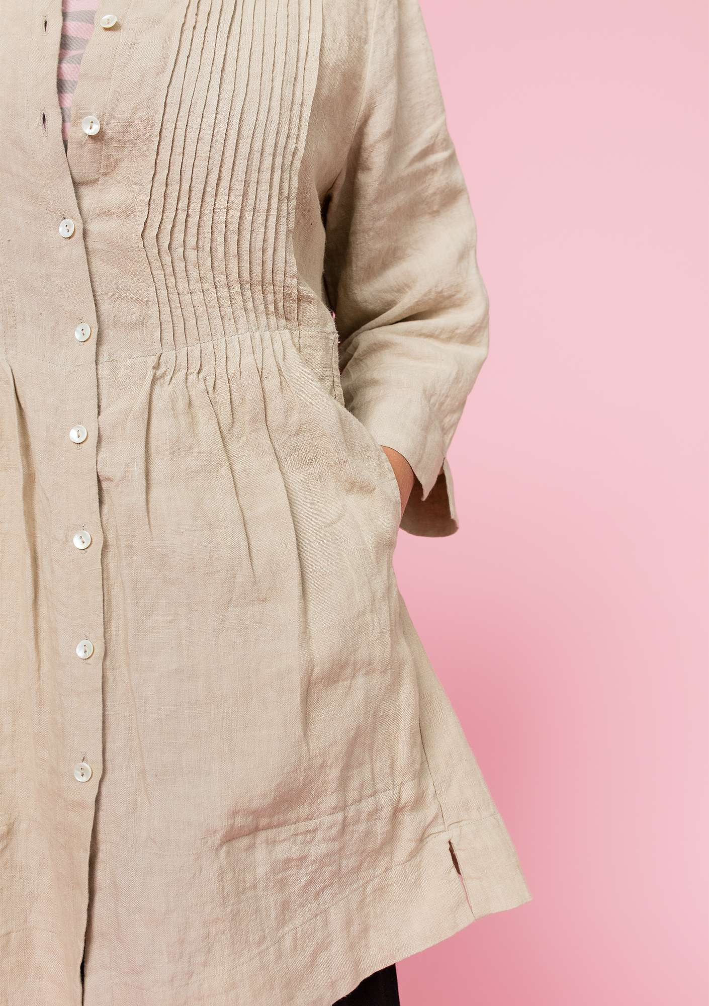 Tunic in linen natural