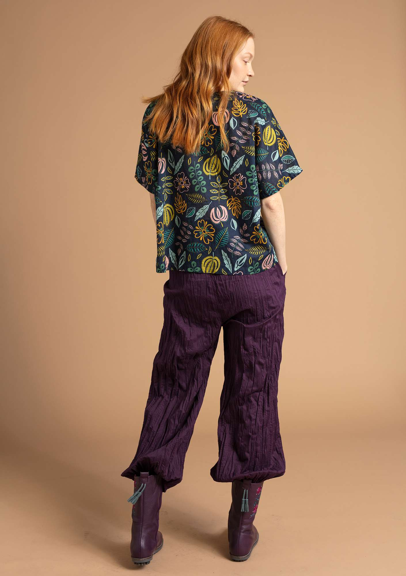 Organic cotton trousers lake