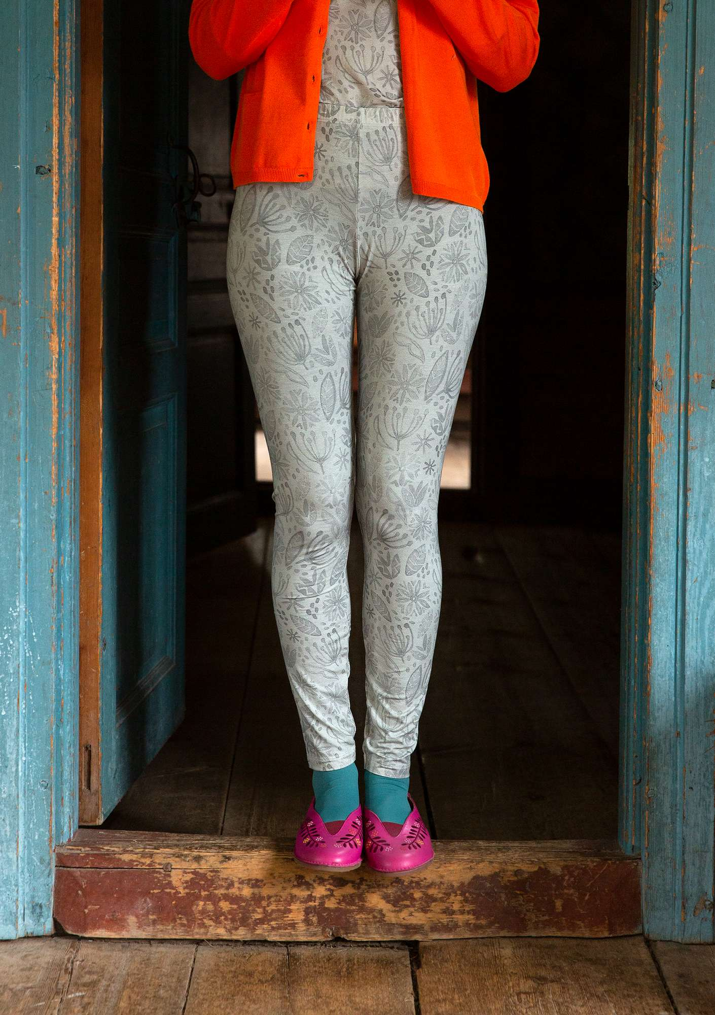 Leggings Aqua light warm grey