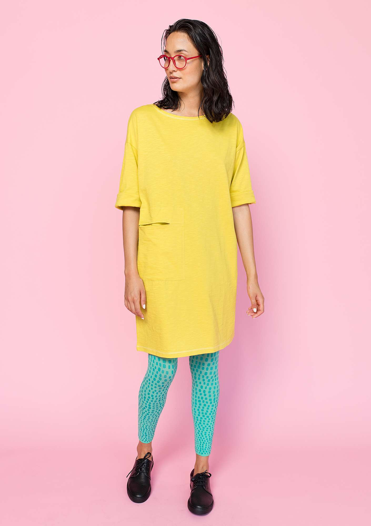 Dress in organic cotton dijon