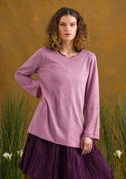 Linen knit fabric tunic pink lupin