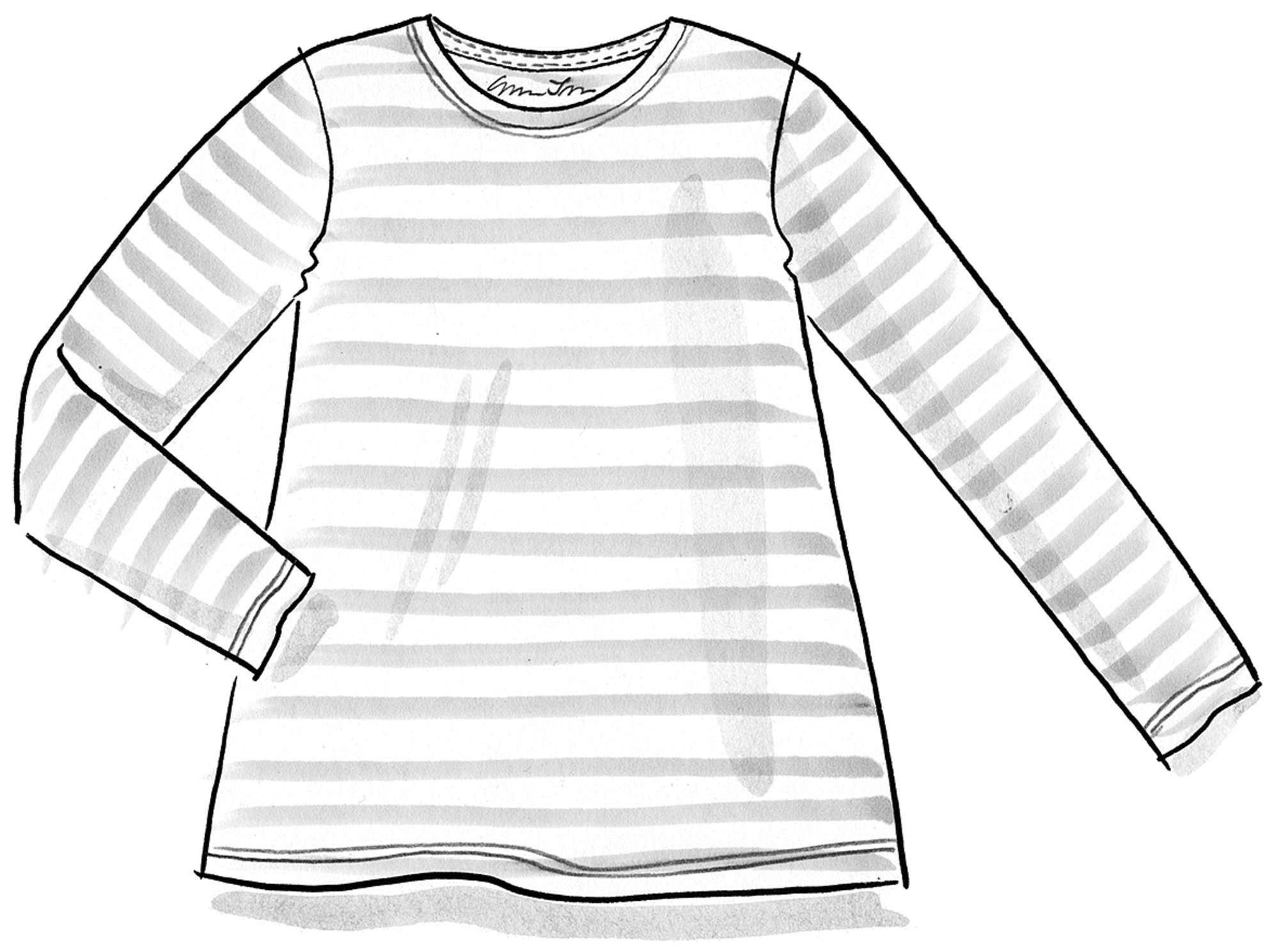 Striped top in eco-cotton