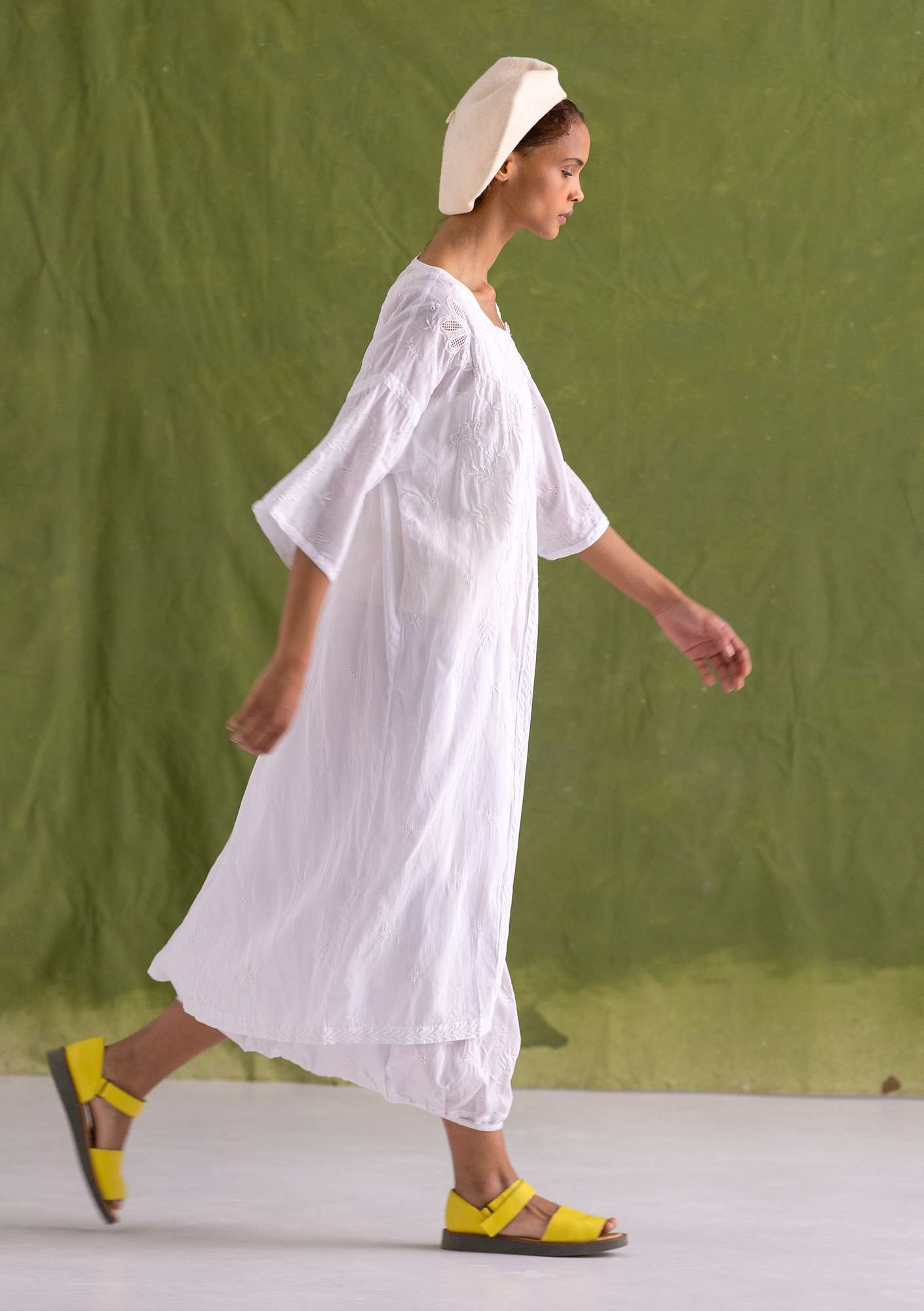 """Little Italy"" eco-cotton dress semi-bleached"