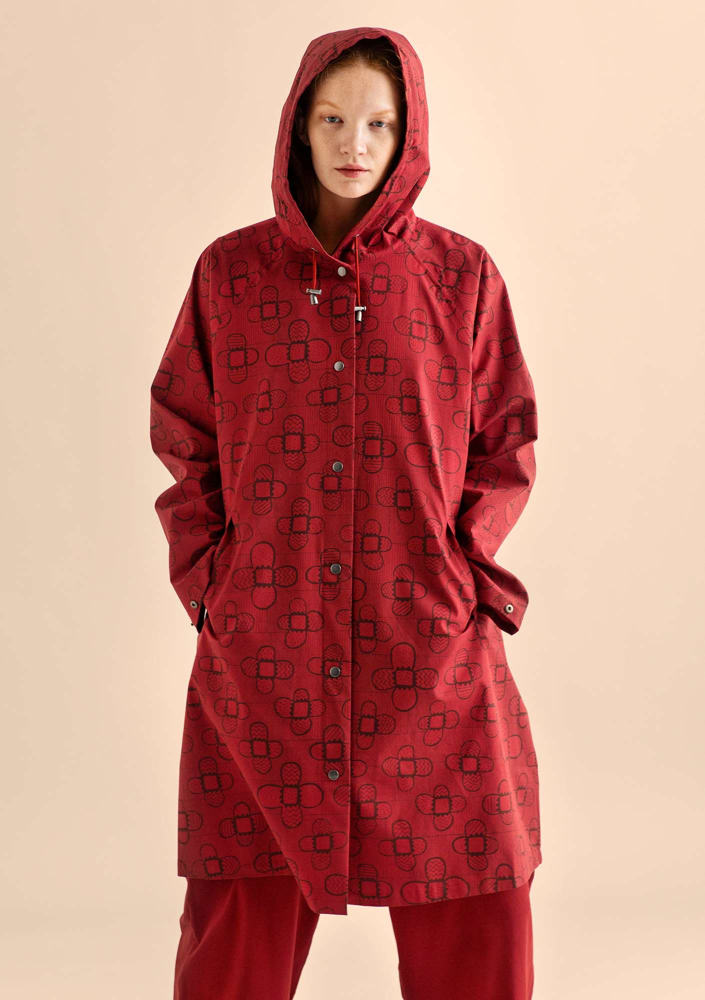 Organic cotton raincoat CINDY poppy
