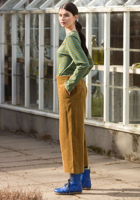 Corduroy trousers brass