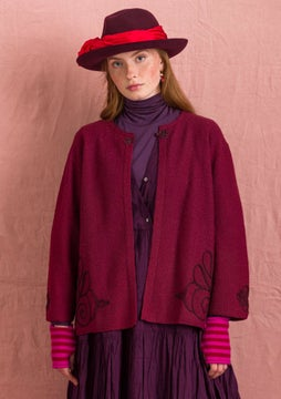 Ada felted wool cardigan burgundy