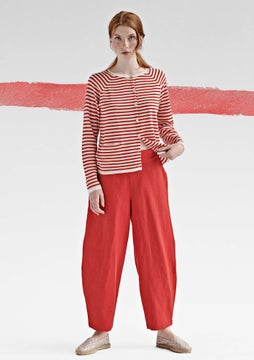 Drapey trousers bright red