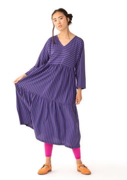 Striped dress ink blue/amethyst