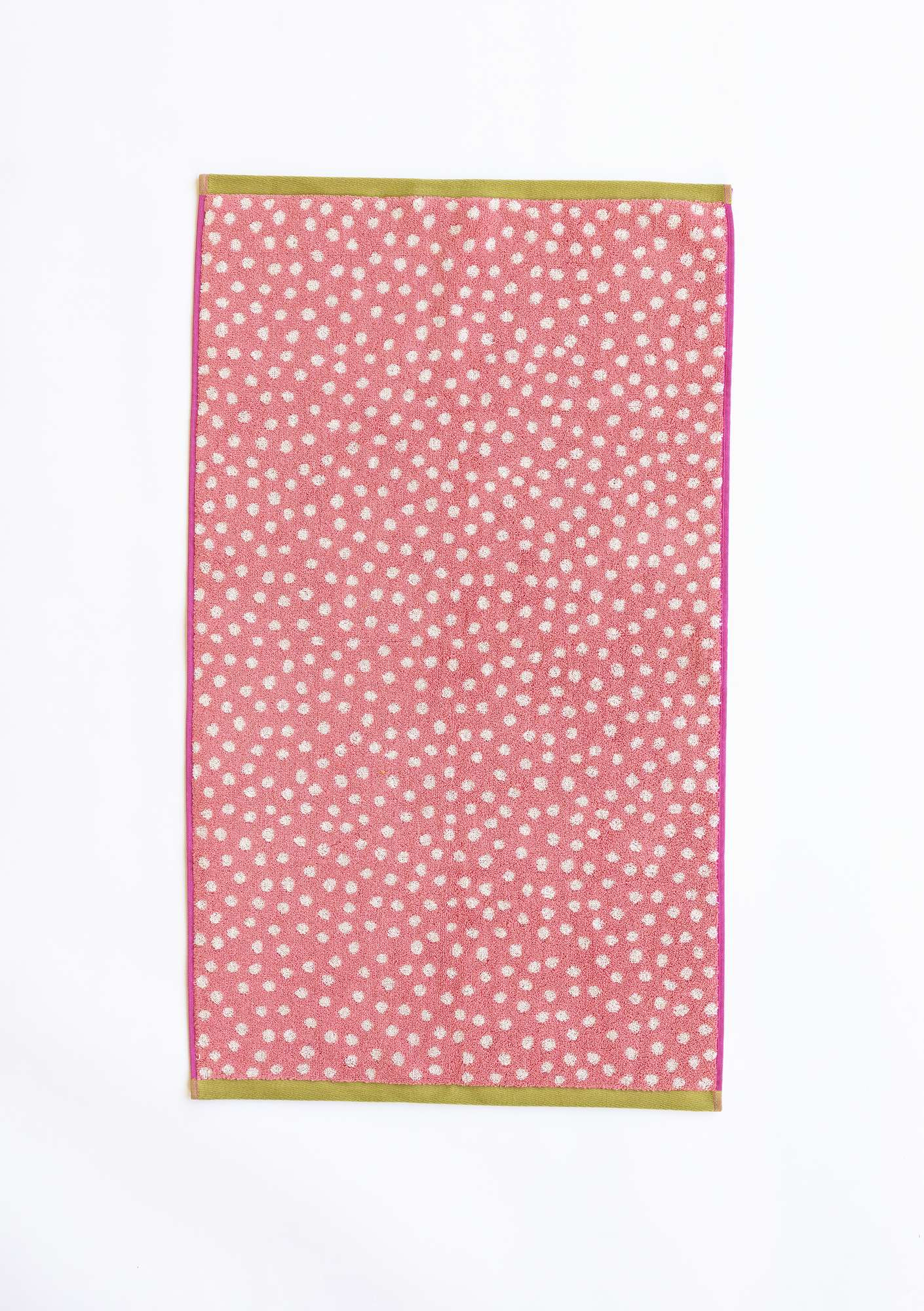 """Dots"" eco-cotton towel water lily"