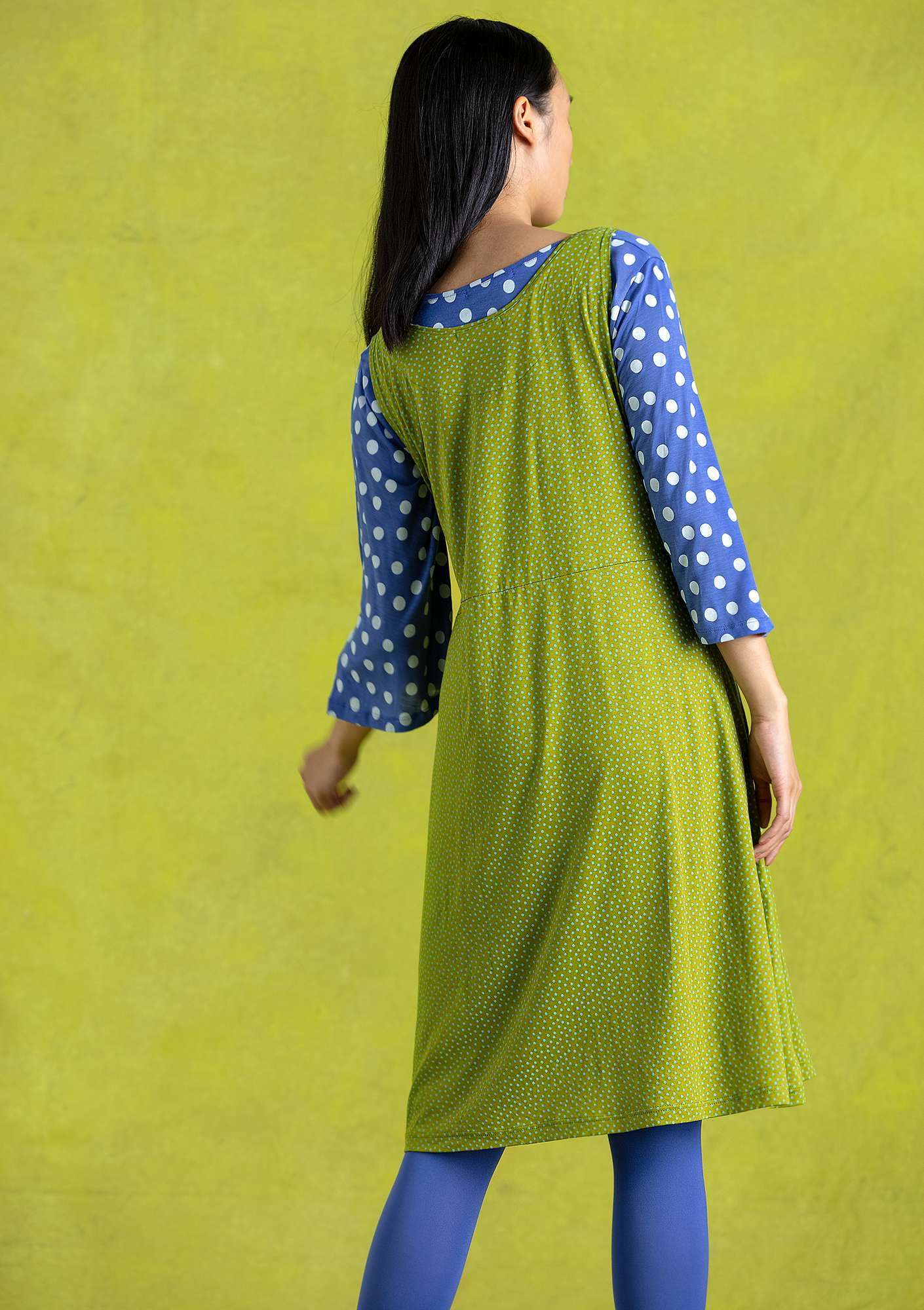 """Judit"" lyocell dress asparagus"