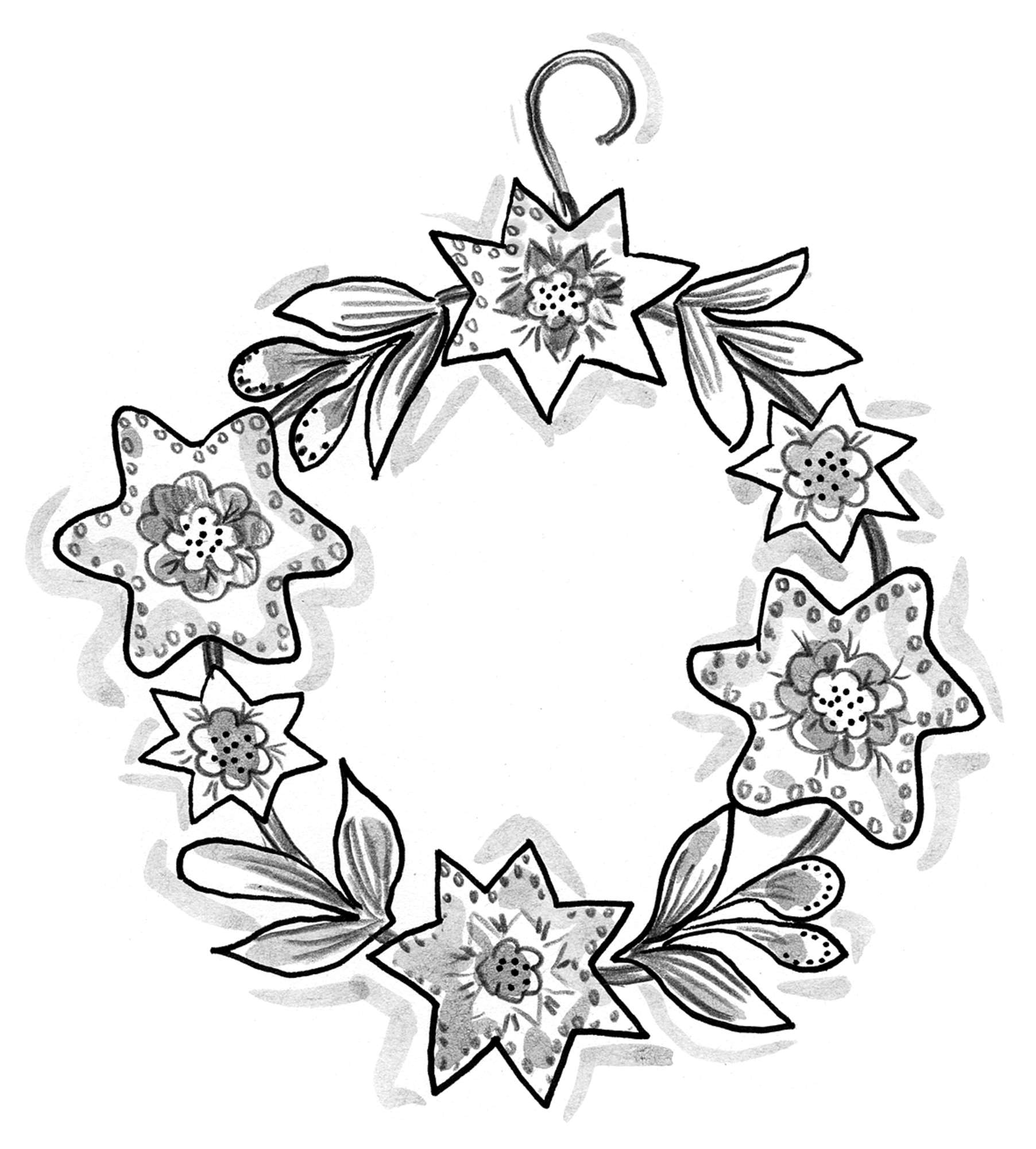 """Julros"" metal wreath"