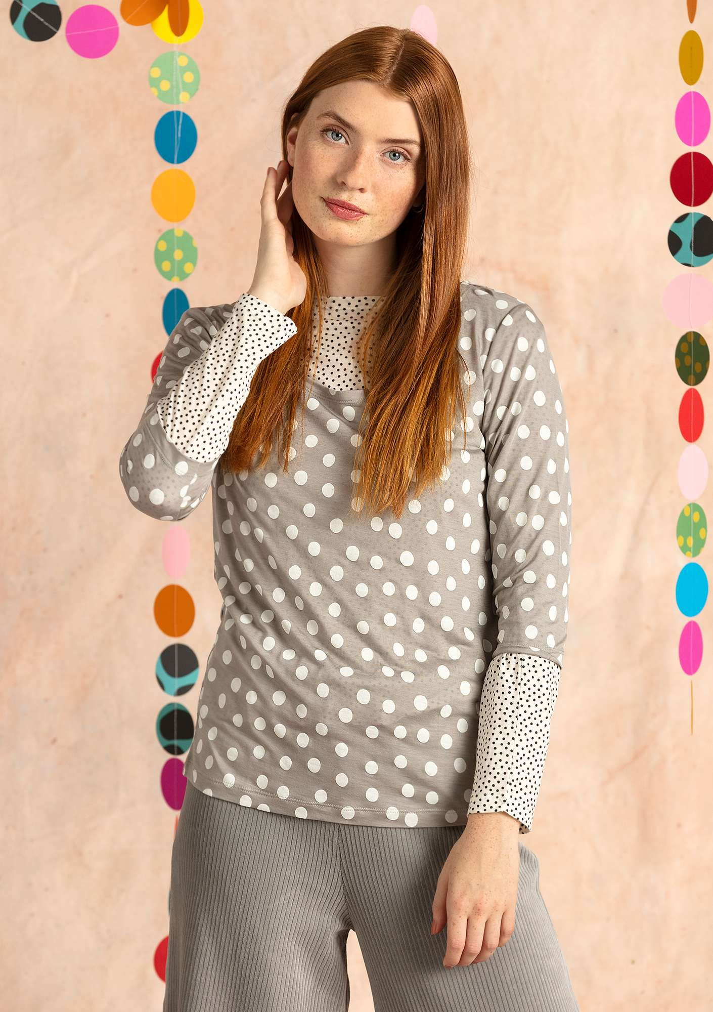 """Josefin"" lyocell top light gray"