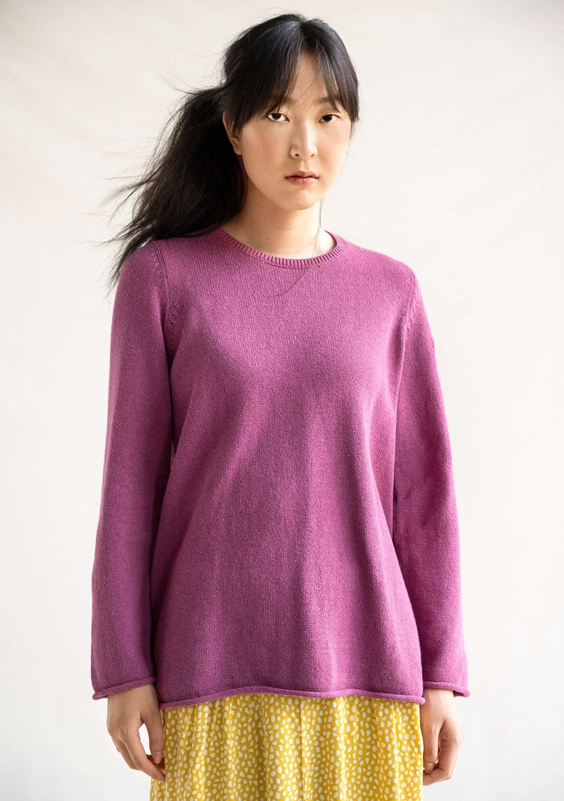 "FAVOURITE sweater ""Rita"" in recycled cotton cyklamen"