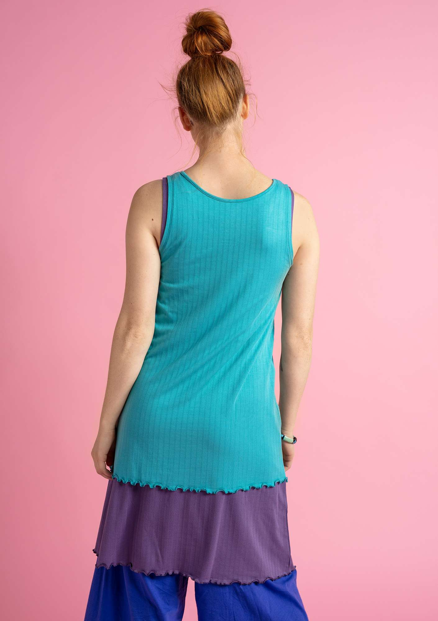 Camisole in micromodal/spandex turquoise
