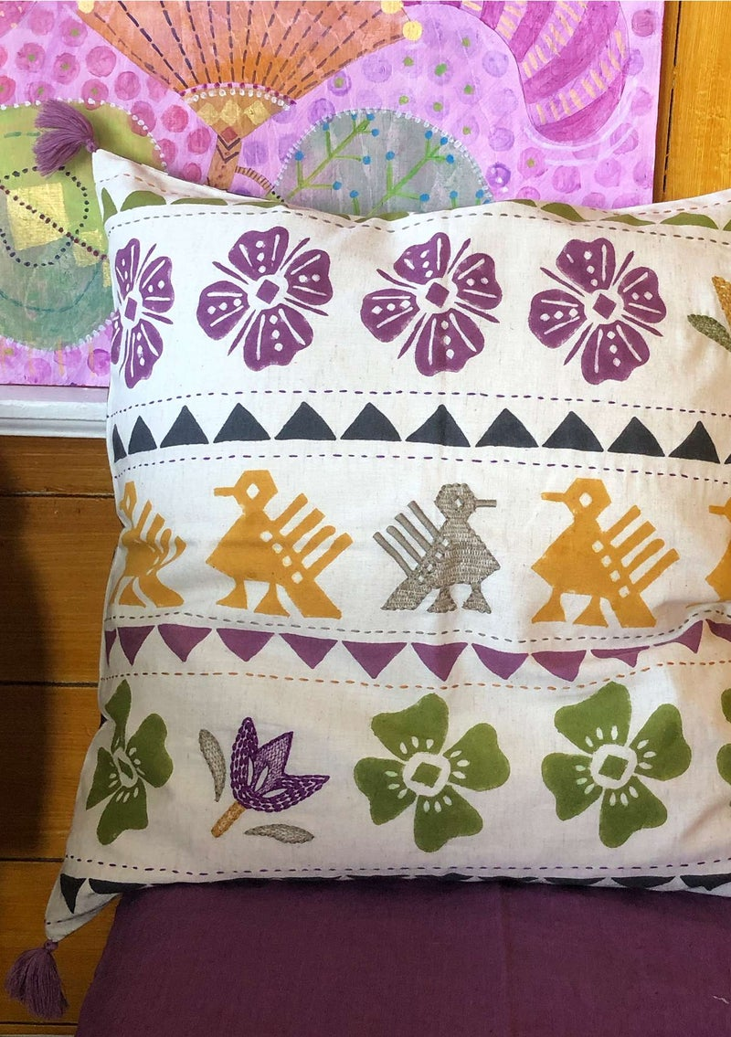 """Paloma"" cotton/linen cushion cover natural"