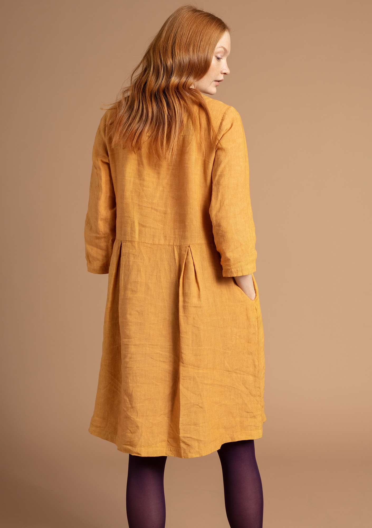 """Sia"" linen dress honey"