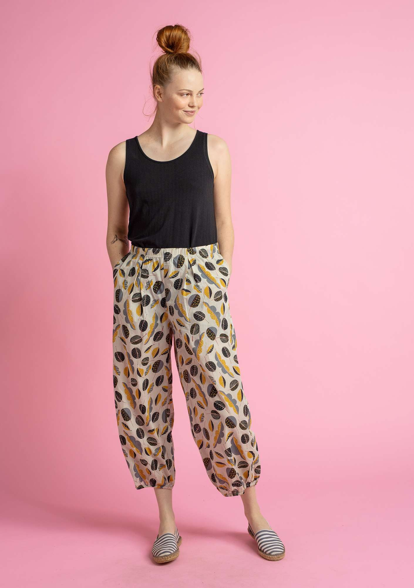 """Pepo"" organic cotton trousers natural/patterned"