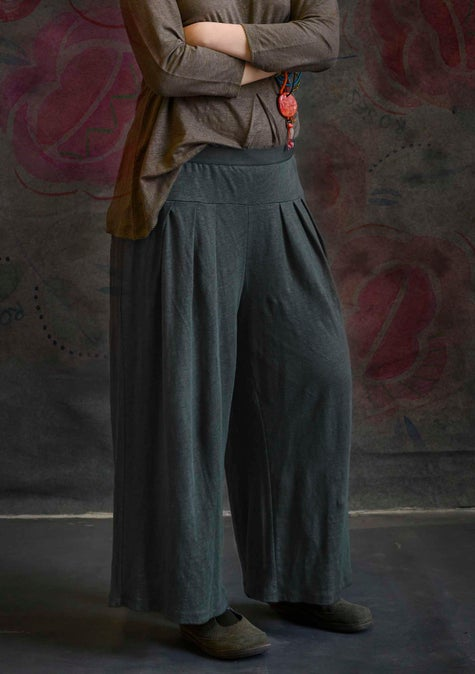 Linen trousers ash grey