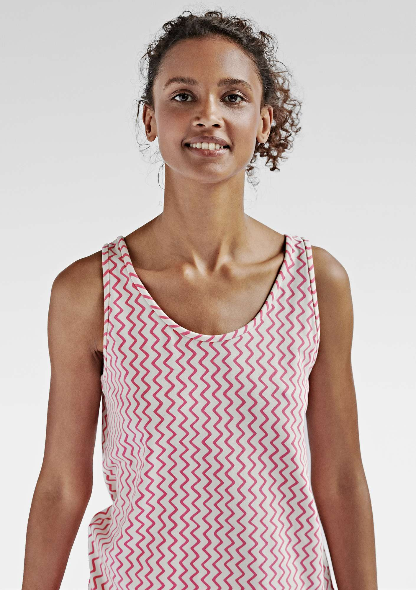 VIGG tank top in modal/eco-cotton/spandex phlox/patterned
