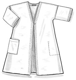 """Twin"" reversible robe in linen/organic cotton"