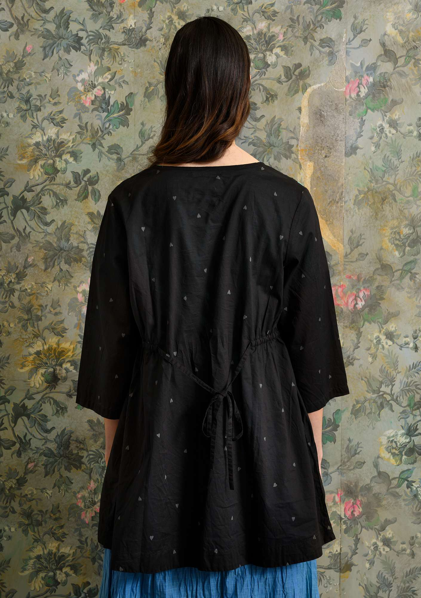 """Cathy"" tunic in organic cotton black"
