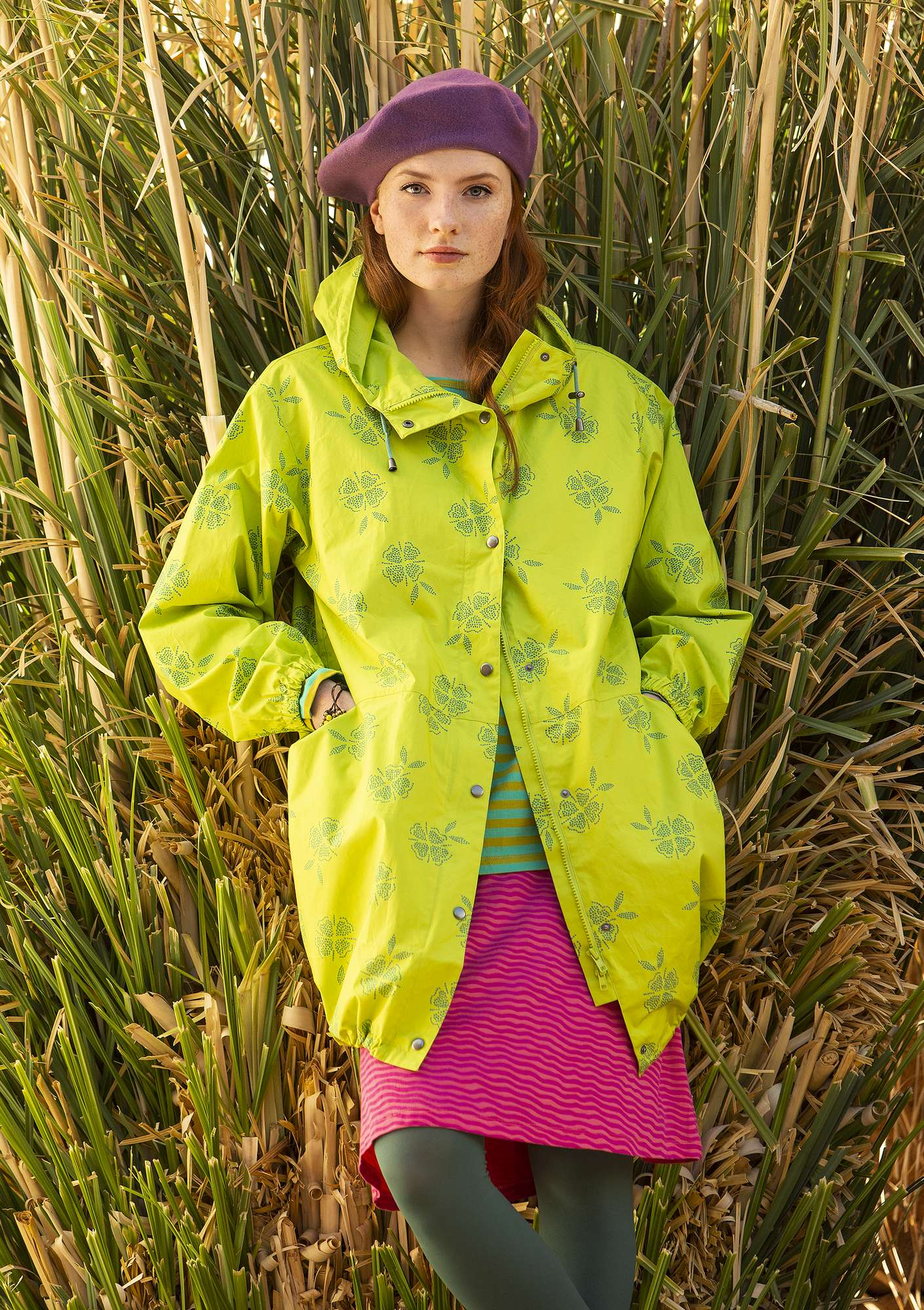 Nice parka tropical green