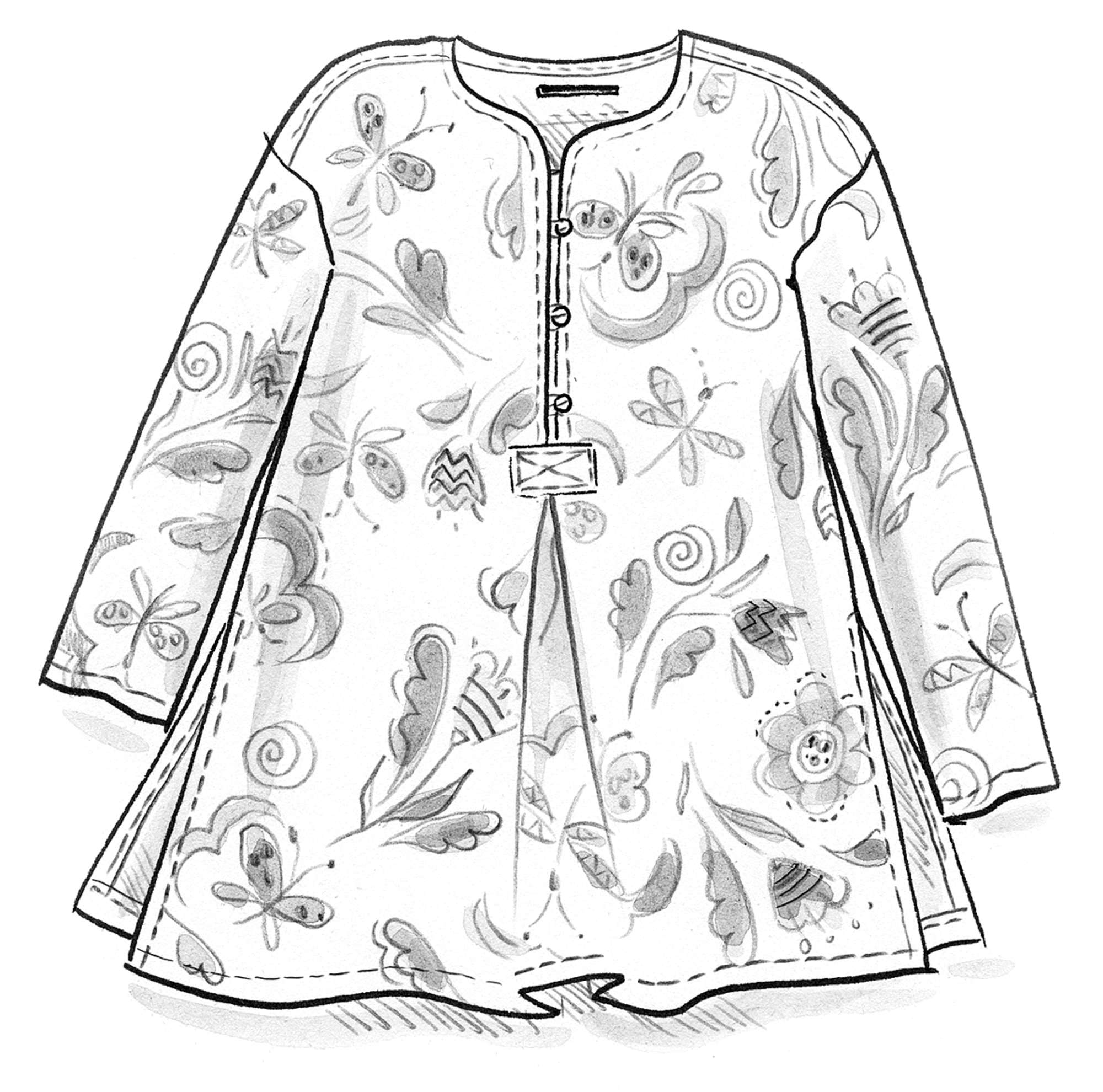 """Dragonfly"" organic cotton tunic"