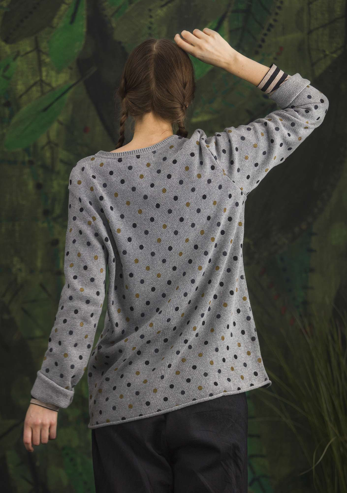 "FAVOURITE sweater ""Belle"" made of recycled cotton graphite/patterned"