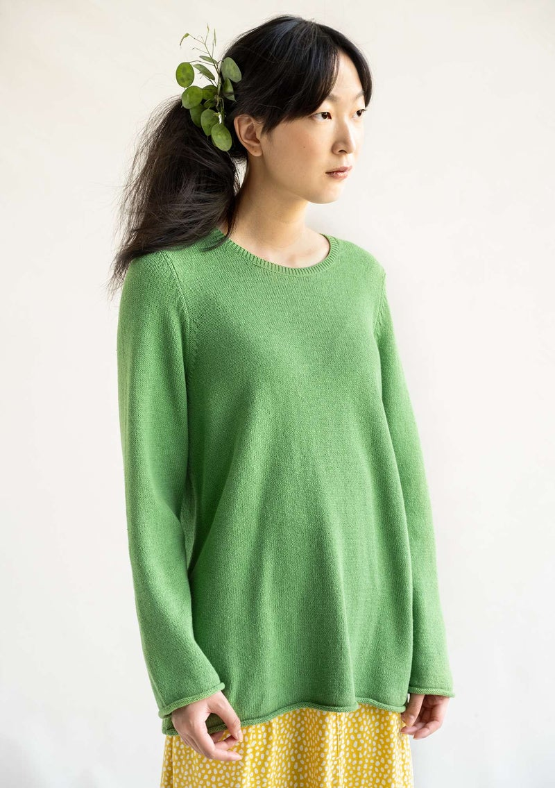 """Rita"" BÄSTIS sweater in recycled cotton coriander"