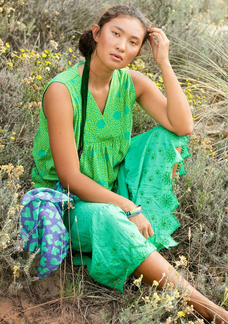 """Acacia"" organic cotton top lotus green"